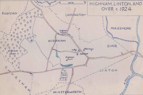 HH Highnam Linton and Over Map 1924