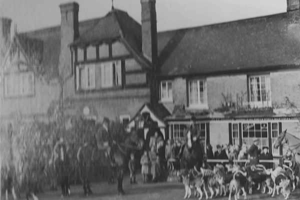 c 1950 Hunt meet at the Dog Godwin Smith second Left with his sister 001 rev