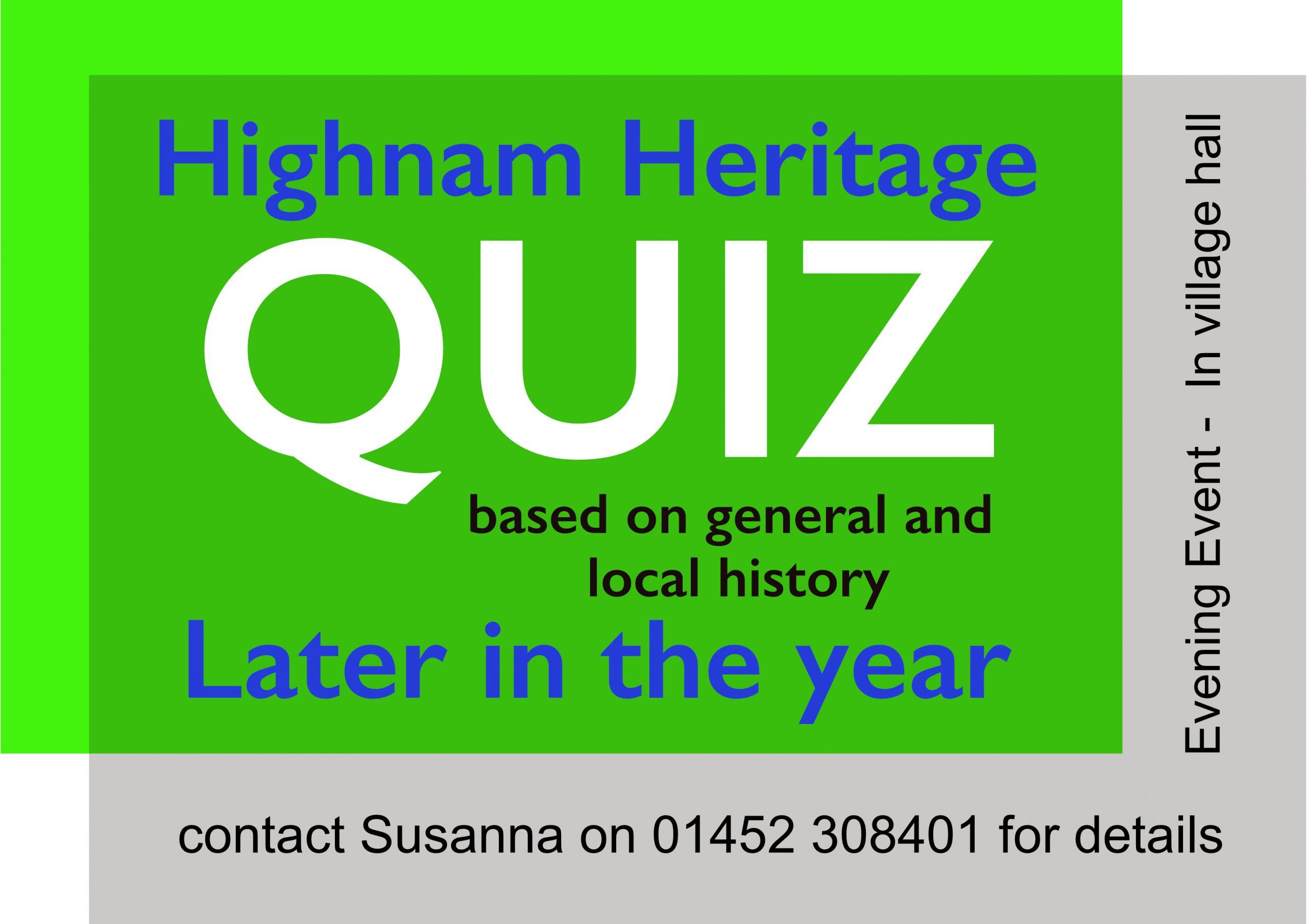 Highnam Heritage Quiz